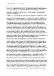 analytical essay  sample analytical essay example analytical essay example macbeth