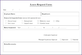 Employee Leave Form Template 8 Sample Time Off Request Forms