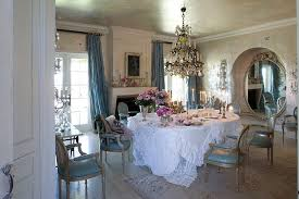 Shabby Chic Dining Room Ideas With Texture Of The Walls Decorating