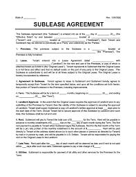 Once signed, the contract permits. Free Sublease Agreement Create A Sublease Contract Pdf Word