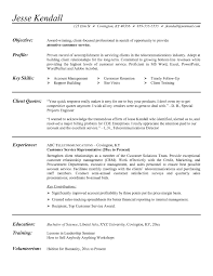 Financial Service Representative Resume Objective Luxury Customer