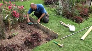 how to install log roll edging forest garden