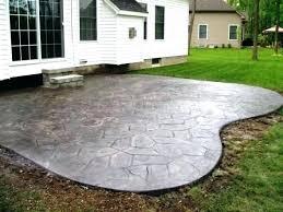 stamped concrete patio cost calculator. Concrete Patio Cost Backyard Cement Designs Stamped Calculator O