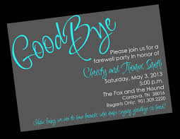 Farewell Flyer Ideas Cool Farewell Party Invitation Wording For The
