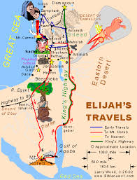 Mount Carmel My Chart Elijahs Travels Then As He Lay And Slept Under A Broom
