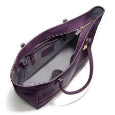 Lyst - Coach Large City Tote in Saffiano Leather in Purple