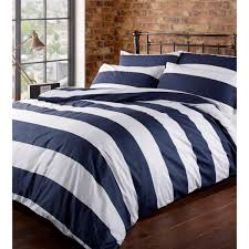image of striped bed skirt navy