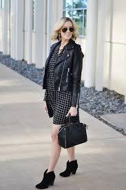 straight a style blogger dress bag jacket shoes jewels stripes leather jacket mini dress