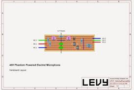 levy sound design 48v phantom powered electret condenser microphone schematic and modification of electret microphone capsule