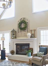 my favorite common elements of a spring mantel and hearth how to decorate my fireplace mantel how to decorate my unused fireplace