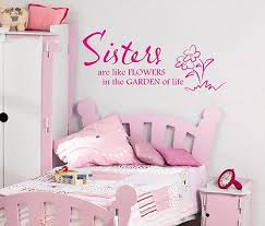 sisters are like flowers wall art sticker quote childrens girls bedroom 107 on wall art stickers for childrens rooms with sisters are like flowers wall art sticker quote childrens girls