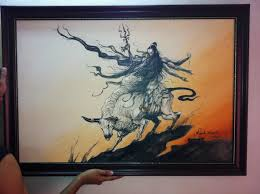 lord shiva painting acrylic painting