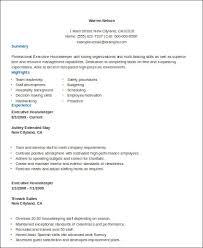 Sample Housekeeper Resume 8 Examples In Word Pdf