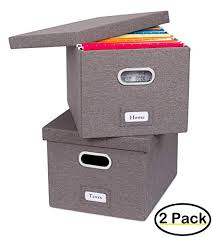 File holder box Folders Amazoncom Internets Best Collapsible File Storage Organizer Decorative Linen Filing Storage Office Box Letterlegal Grey Pack Office Amazoncom Amazoncom Internets Best Collapsible File Storage Organizer