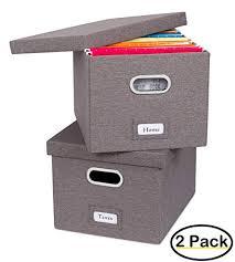 File holder box Folders Amazoncom Internets Best Collapsible File Storage Organizer Decorative Linen Filing Storage Office Box Letterlegal Grey Pack Office Amazoncom Amazoncom Internets Best Collapsible File Storage Organizer