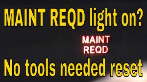 2006 Prius Maintenance Light Reset How To Reset Maint Reqd Light On Toyota Prius Hybrid