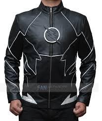black zoom flash leather jacket