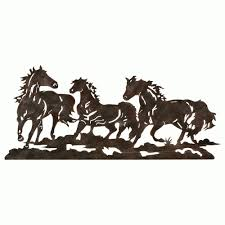 metal running horse wall art pertaining to most recently released horses metal wall art view