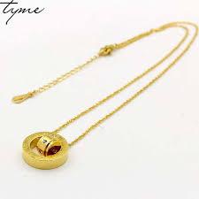 Online Shop Titanium steel Rome Necklace <b>Fashion famous brand</b> ...
