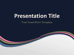wave powerpoint templates blue orange wave powerpoint template blue orange template and