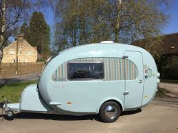 Used barefoot caravan for sale Fiberglass The Camper Is Available In Multiple Body Colors Like This Light Blue Youtube Camper Trailer Combines Retro Style With Modern Amenities Curbed