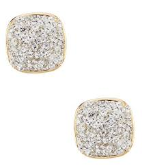 kate spade new york clay pave small square stud earrings