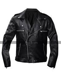 walking dead negan black biker leather jacket