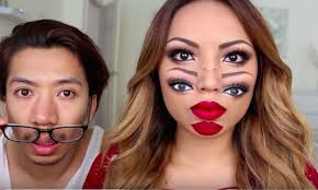 this trippy makeup tutorial will have you seeing double