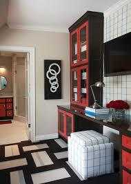 red black home office. Red Black Home Office