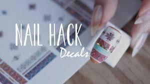 diy nail decals navajo print nails you