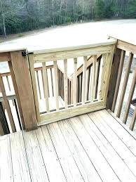 outside baby gate outdoor pet for deck how to build your own stair stairs with door