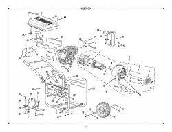 hg5700 homelite portable generator parts homelite parts hg5700 generator parts schematic