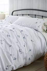 embroidered ditsy fl duvet cover