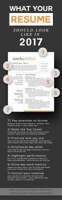 Resume Tips What Your Resume Should Look Like In 2017 Work