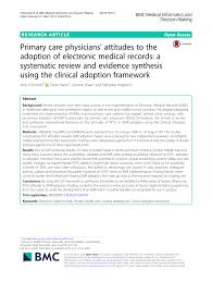 Electronic Medical Charts Make It Easier For Doctors To Pdf Primary Care Physicians Attitudes To The Adoption Of