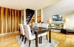 modern dining room pictures free. dining room interior in modern city apartment. royalty free stock photos dining pictures a