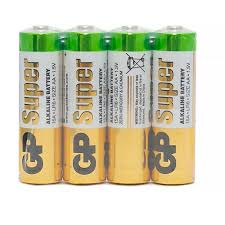 Батарейки <b>GP Super</b> эконом AA/LR6/15A 4шт/уп GP15ARS-2SB4