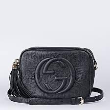 gucci soho disco tassel bag black grain leather