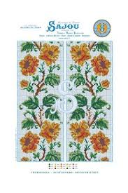 Cross Stitch Pattern Chart Reedition Flower Motif Sunflowers