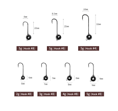 Fishing Jig Size Chart Tungsten Free Action Jighead