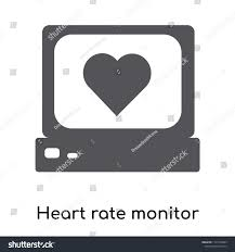 Heart Rate Monitor Icon Vector Isolated Stock Vector