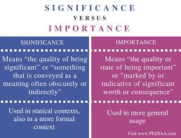 difference between significance and