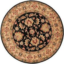 heritage black gold 8 ft x 8 ft round area rug
