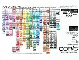 copic ciao color chart copic hand painted color chart 358 color