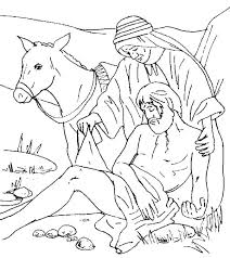 Good Samaritan Bible Story Coloring Pages The Good Coloring Pages