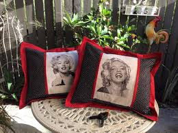 Free Marilyn Monroe Embroidery Designs Two Embroidered Bag With Marilyn Monroe Free Design Photo