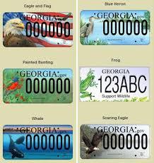 Georgia License Plates Designs Public Can Vote On New Ga Wildlife License Plates