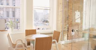 natural light office. Empty Office Shared Workspace Bright Natural Light In Modern Business Architecture Steadicam Movement Stock Video Footage - Videoblocks T