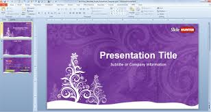 Free Purple Christmas Powerpoint Template Free Powerpoint