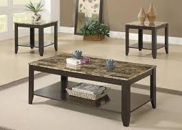 lodi marble 3 pc table set cappuccino